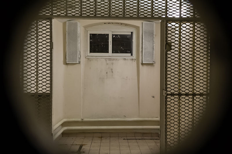 Solitary cell in Prison Jacques-Cartier, Rennes, France